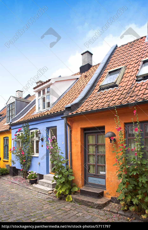Häuser In Dänemark alte dänische häuser lizenzfreies bild 5711797 bildagentur