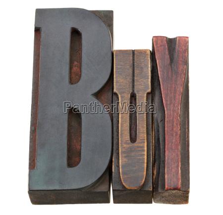buy word in letterpress type