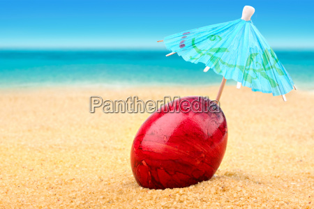 easter egg at beach