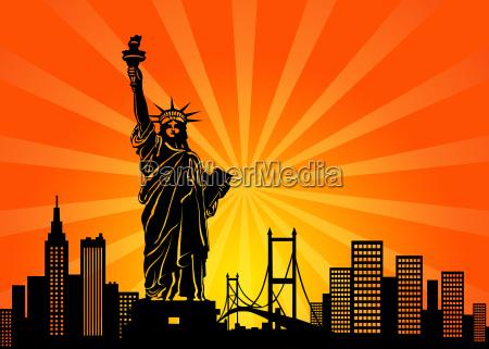 new york manhattan skyline der stadt