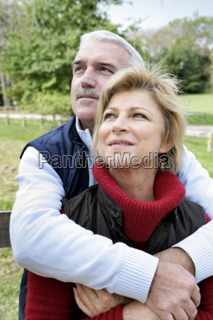 mature couple in the countryside