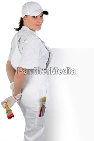 female decorator