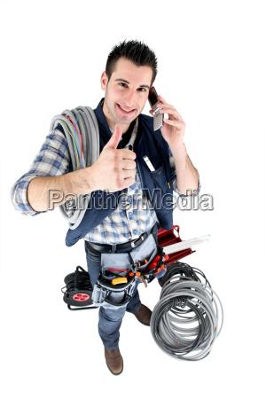 handyman giving the thumb039s up