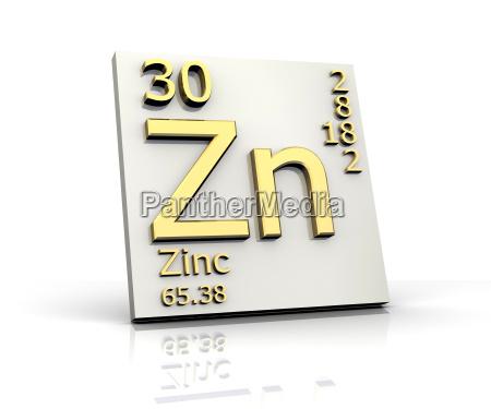 zinkform periodensystem der elemente