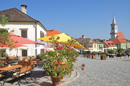marktplatz von rust am neusiedler see