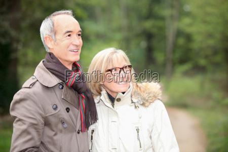 couple on an autumn stroll