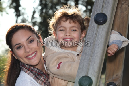 mother and daughter together in the