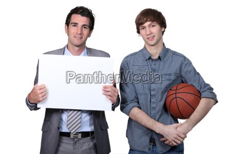 basketballspieler und trainer