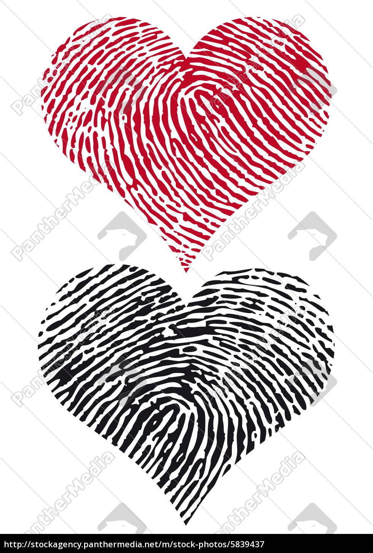Künstlerisch Bild Fingerabdruck Foto Von Stockfoto 5839437 - Herzen
