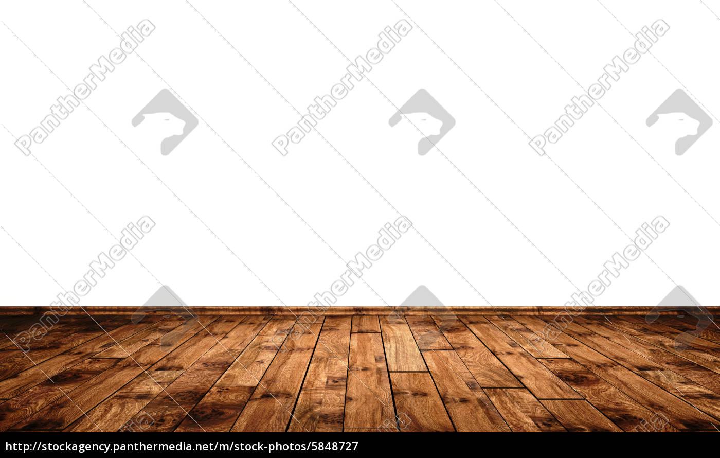 Weisse Wand Mit Holzboden Eiche Ast Lizenzfreies Bild 5848727