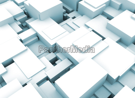 abstract 3d construction