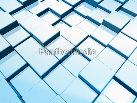 abstract metal cubes background