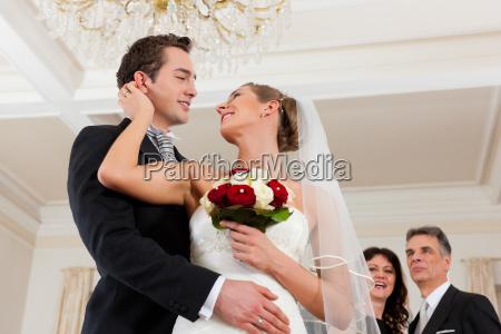 bride and groom at wedding waltz