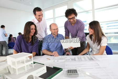 people working in an architect039s office