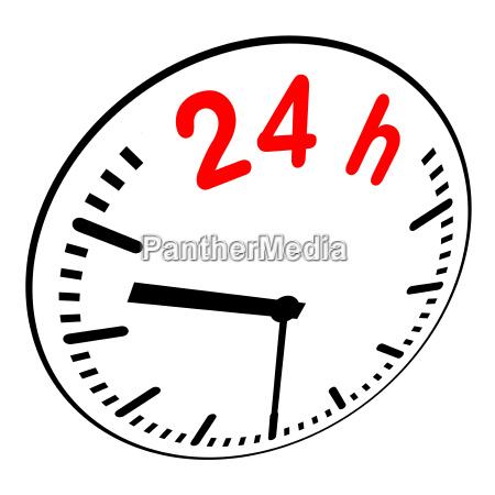 24h service zeit