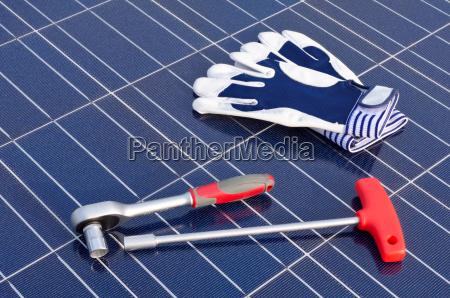 solarzellen und werkzeug