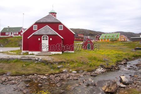 kirche groenland landschaften