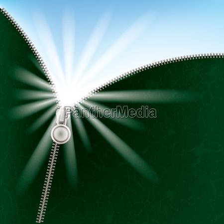 abstrakter hintergrund mit sonnenlicht und reissverschluss