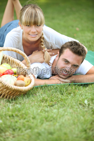 couple having a romantic picnic together