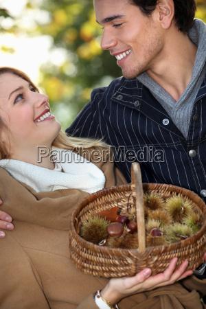 going chestnut picking