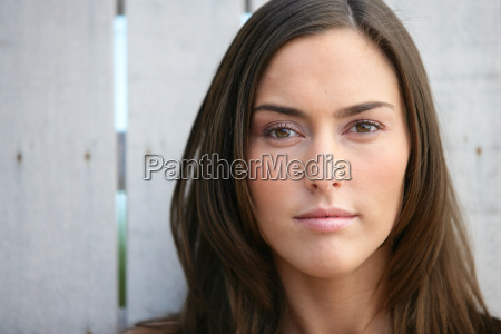 closeup of a young woman with