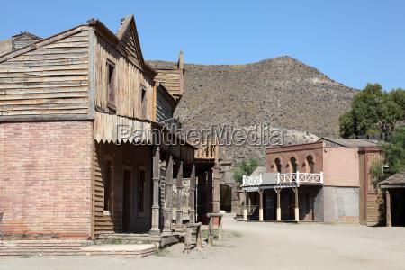 alte verlassene amerikanische weststadt