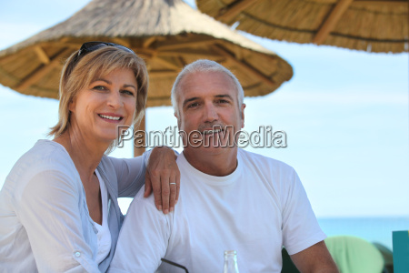 mature couple on holiday