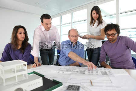 group of architects working