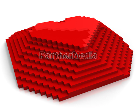 pyramid with heart on top made