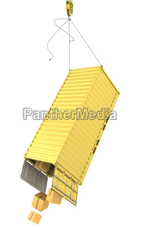 yellow container falling after accidentally detaching