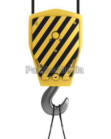 yellow crane hook front view