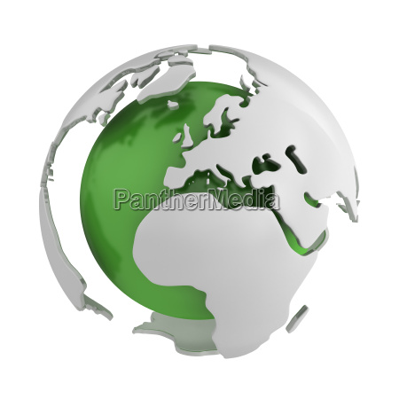 abstract green globe europe