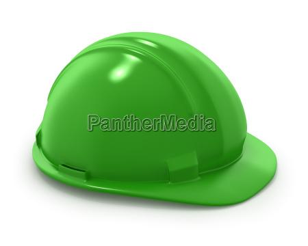 green builder039s helmet isolated