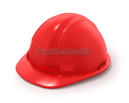red builder039s helmet isolated