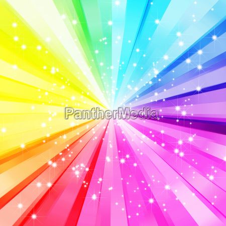abstract sparkling star colorful burst background
