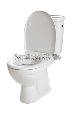 weisse keramische toilette