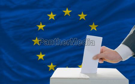 menschen abstimmung ueber wahlen in europa