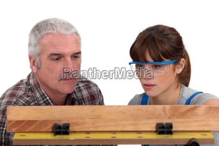 carpenter and female apprentice