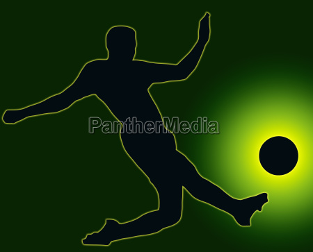 green back sport silhouette soccer player