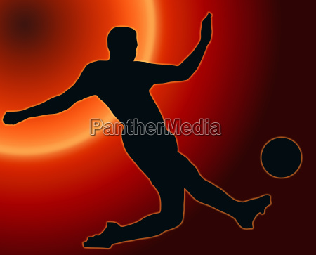 sunset back sport silhouette soccer player