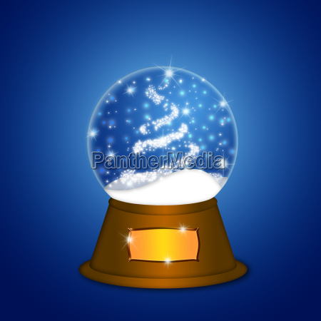 water snow globe with christmas tree