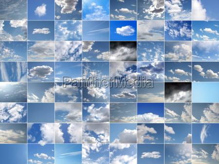 blau wolke himmel firmament hintergrund weiss