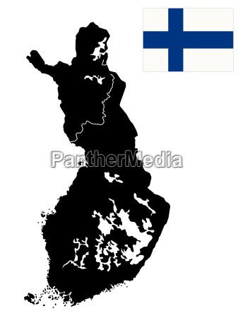 detaillierte karte von finnland