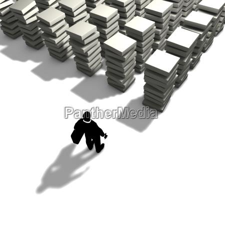 ein mann wird seine arbeit organisieren