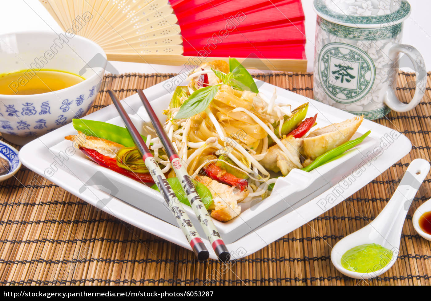 thailändisches, schaf, gebratenes, hühnerbrustfilet - 6053287