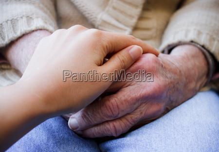 mao maos cuidado pessoa mais velha