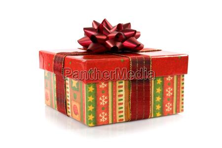 geschenkbox mit einer schleife