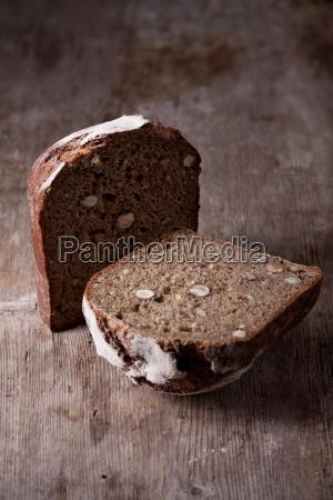 walnut bread on a wooden board