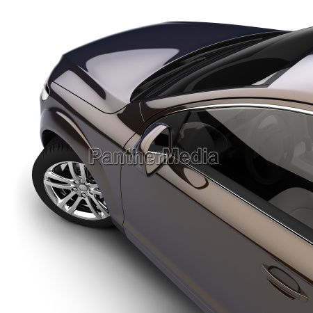 auto con una vernice bicolore scuro