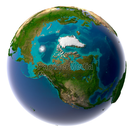 realistic planet earth with natural water